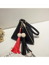 Hot Selling Tassel Fringe Triangle Clutch Bag