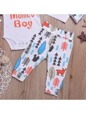 Lovely Printing Onesie 3Pcs Infant Boys Set