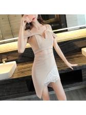 Night Club Hollow-Out Straps Asymmetric Dress