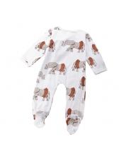 Printed Long Sleeve Infant Jumpsuit