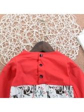 Patchwork Long Sleeve Infant Onesie