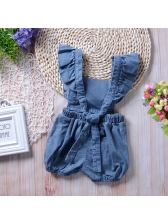 Lovely Denim Summer Infant Romper