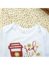 Cute Printing Onesie With Pants Infant Set