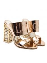 Metallic Gloss Stylish Women Slippers
