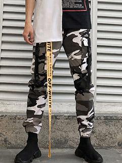Fashion Camouflage Prints Ribbon Long Pants