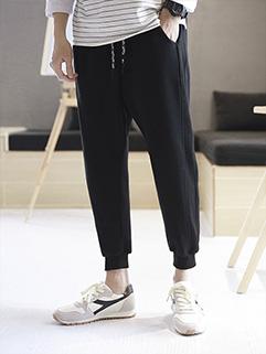 Casual Men Pocket Tapered Pants Spring
