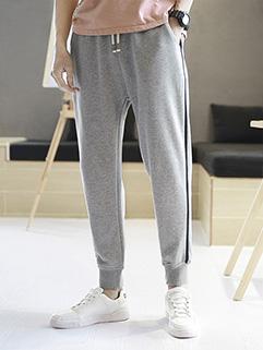 Casual Striped Sided Pocket Harem Pants