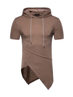 Cheap Fashion Asymmetrical Hem Tee For Men