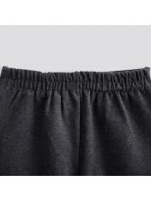 High Waist Knitting All Match Flare Pants