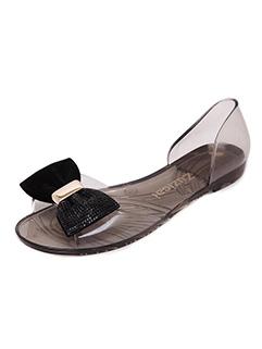 Bow Decor Peep-toe Transparent Jelly Sandals