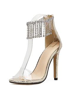 Night Club Tassel Transparent High Heel Sandals