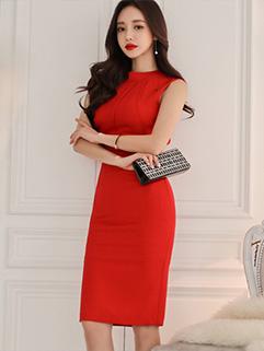 Korean Elegant Backless Bow Wrap Dresses