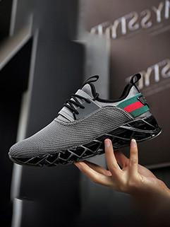 Sporty Man Patchwork Gauze Sneakers