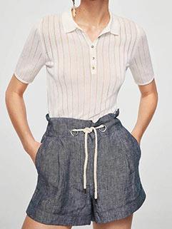Fashion High Waist Drawstring Short Pants (3-4 Days Delivery)