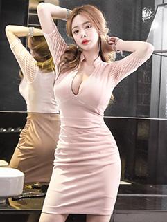New Sexy Deep V Neck Wrap Dresses