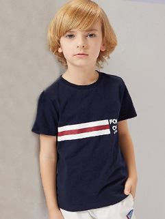 Summer Striped Short Sleeve Boys T-shirt