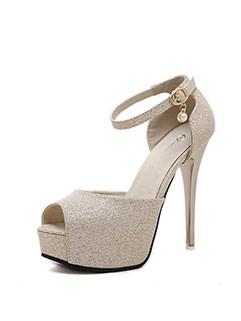 Fashion Stiletto Peep-Toe Platform Sandals Heels
