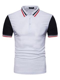 Euro Style Fashion Striped Polo Shirt