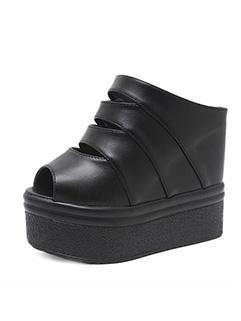 Fashion Wedges Platform Peep Toe Slippers