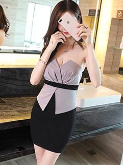 Night Club Sexy Wrap Strapless Dresses