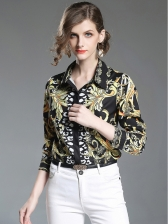 Euro Long Sleeve Floral Blouse For Women