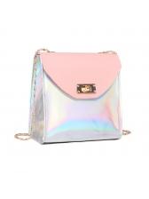 New Brightly PU Hasp Chains Mini Bag