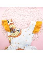 Cartoon Pattern Sleeveless Litter Rompers Infant