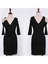 Korean Deep V Neck Wrap Dresses