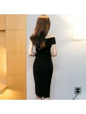 Off Shoulder Top With Wrap Slit Skirts