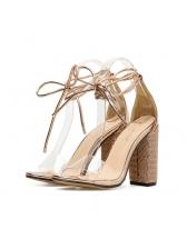Fashion Lace Up PVC Pumps Sandals
