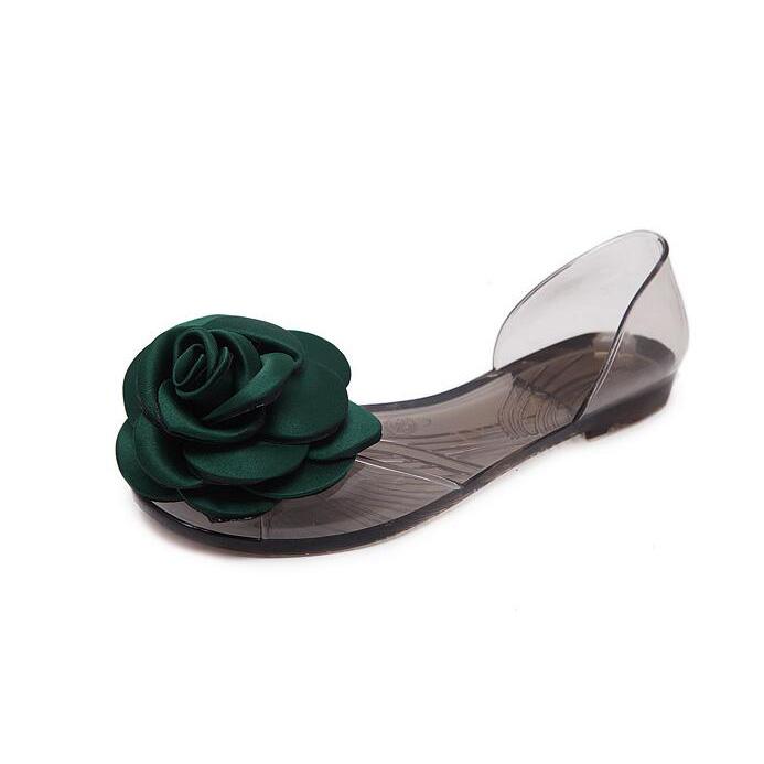 Rose Patchwork Open Toe Flat Beach Sandals