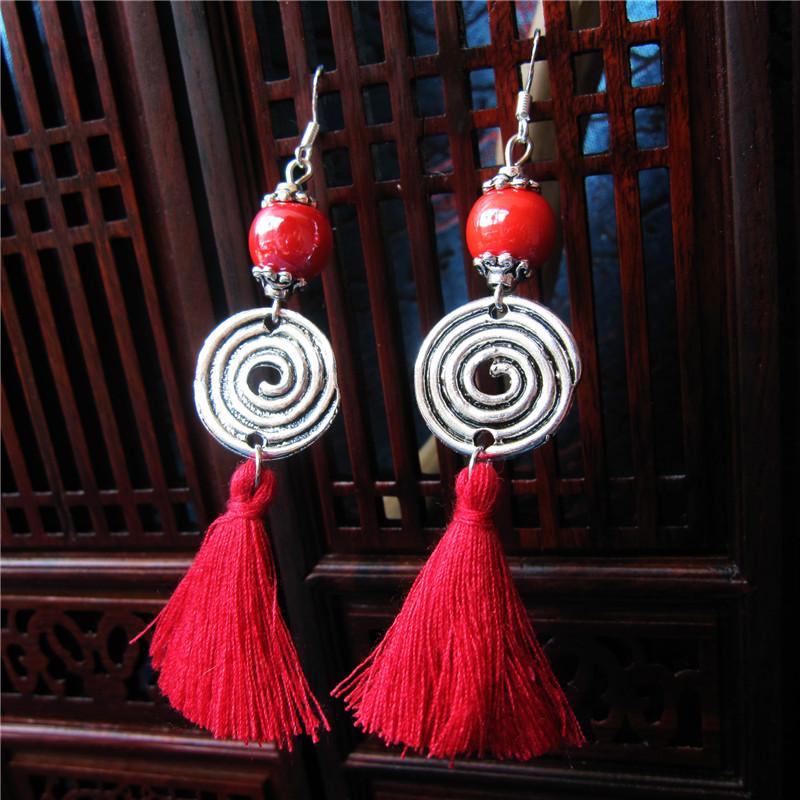 National Style Tassels Earrings For Women