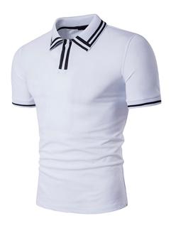 Fashion Printing Short Sleeve Turndown Neck Polo Shirt