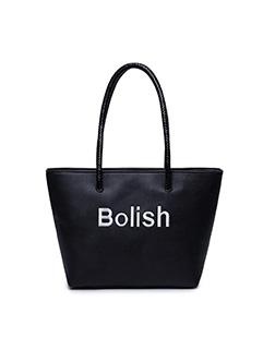 Korean Fashion Casual Letter Printing Bucket Bag
