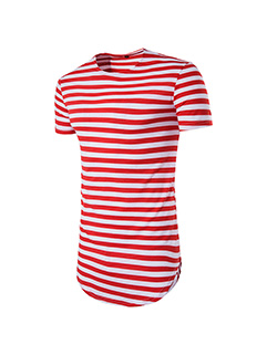 Casual Striped Hip Hop Tee