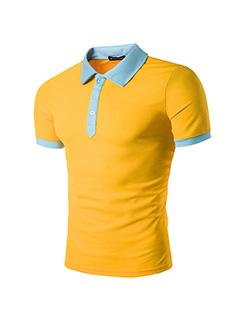 Hot Selling Color Blocking Short Sleeve Shirt