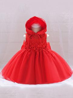 Fashion Sleeveless Solid Baby Dresses