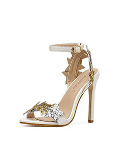 Sexy Star Buckle Strap Peep Toe Sandals