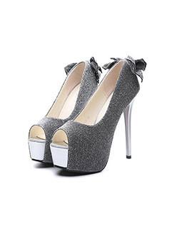 Fashion Stiletto Peep Toe Platform Pumps