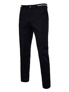 Korean Fashion Solid Color Zipper UP Men Casual Pants