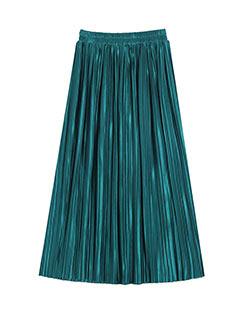 European Style Elegant Temperament Pure Color Skirts