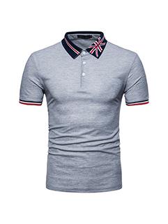 Embroidery Fashion Short Sleeve Men Polo Shirt