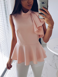 Fashion Flounce Sleeveless Solid Shirt