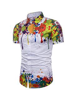 Fashion Splash Ink 3D Printing Shirt