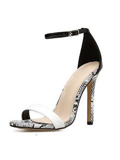 Fashion Patchwork A Buckle Sandals