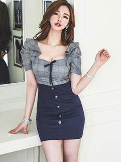 Sexy Short Puff Sleeve Dress