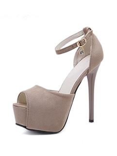 Elegant Women One Buckle High Heel Pumps