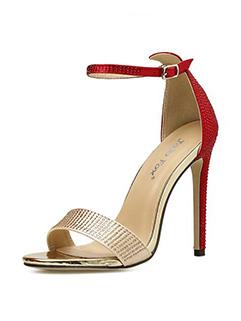 Buckled Sexy Faux Diamonds Stiletto High Heel Sandal
