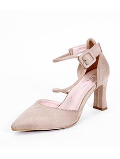 Modern Women Chunky Heel Simple Flats