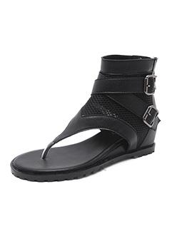 Roman Style Modern Girl Wedge Sandals